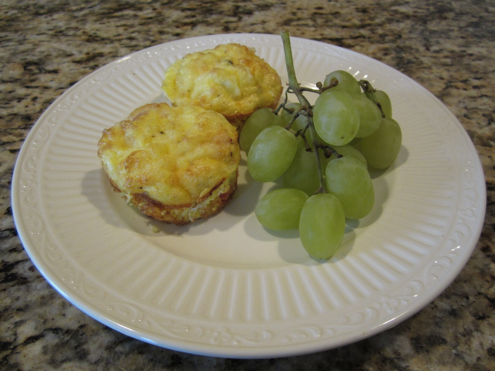 Mini ham and cheese frittatas