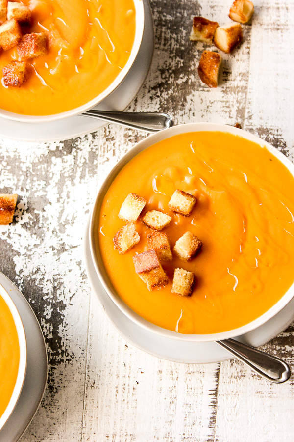 Sweet Potato Bisque with Truffle Oil