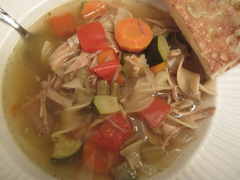 slow cooker turkey noodle soup