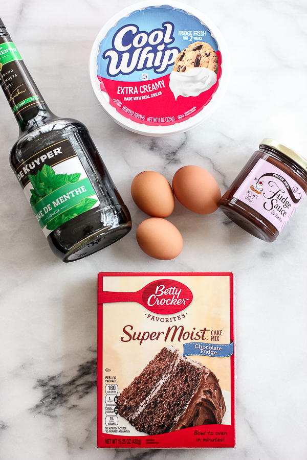Photo of ingredients for Chocolate Creme de Menthe Cake