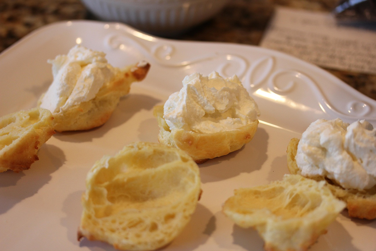... Dish for Great Recipes! – Cream Puffs with Mascarpone Cream Filling