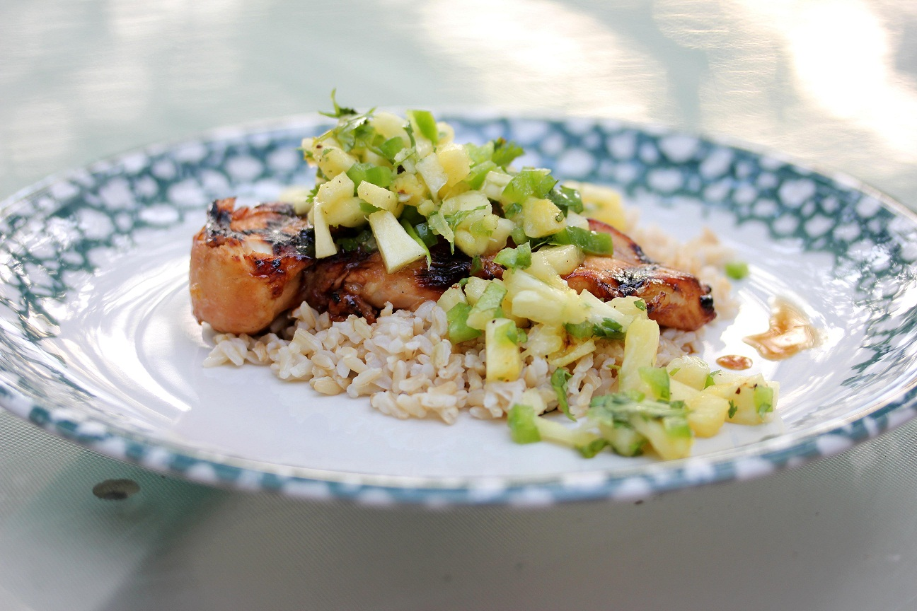 Grilled Chicken with Pineapple Salsa 025