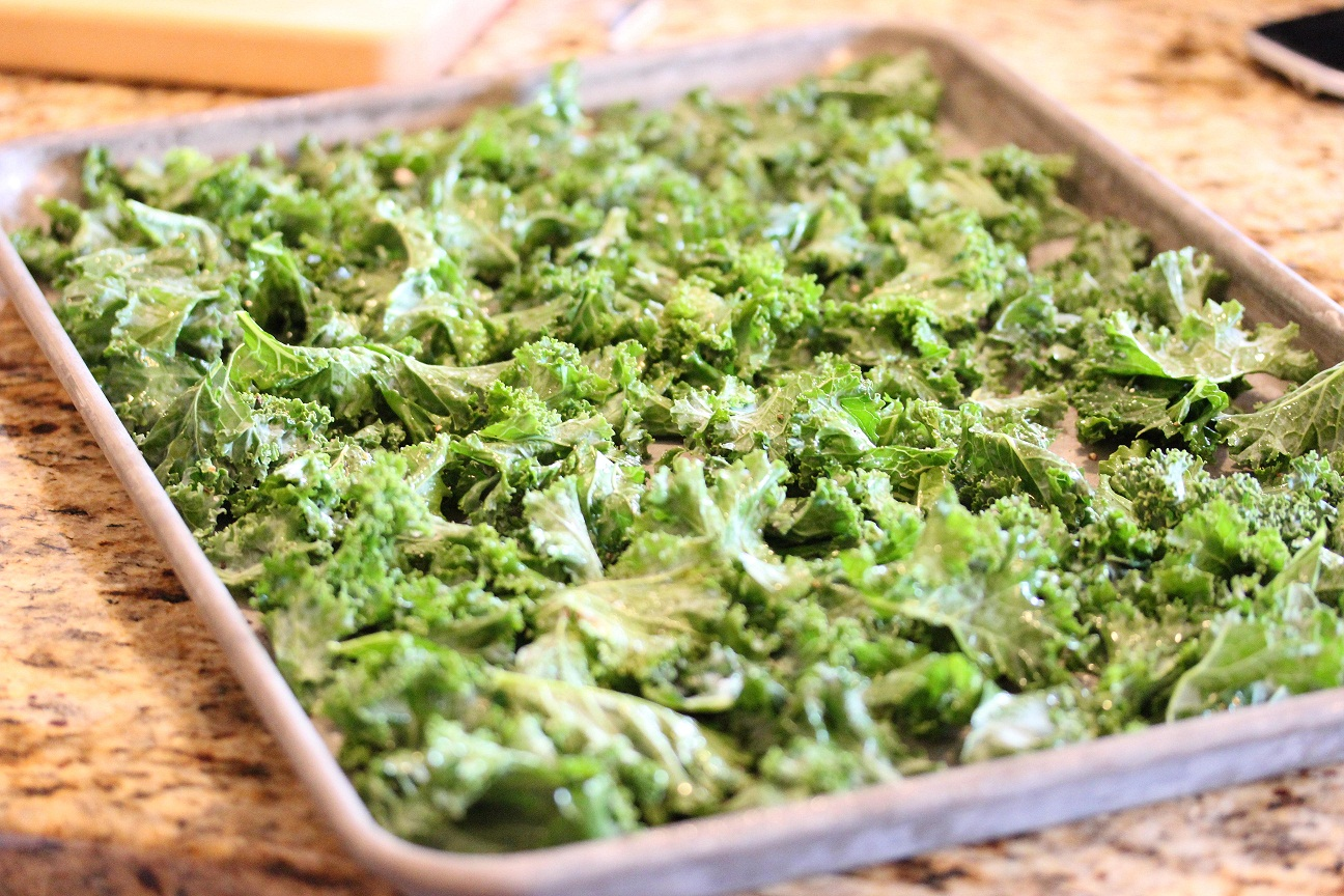 ... kale, stir and bake for another 2 to 3 minutes until kale is crispy