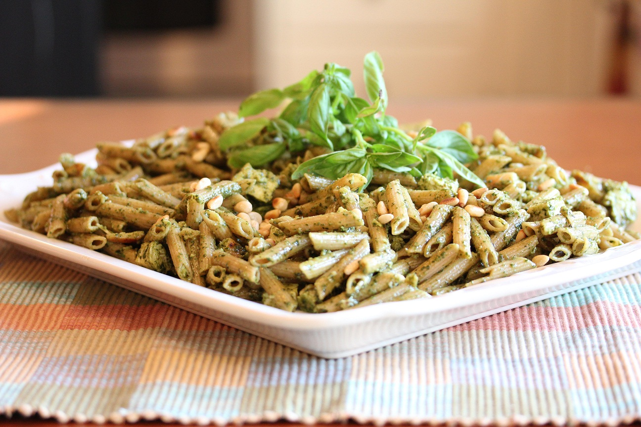 Grilled Chicken Pesto Pasta - Lisa's Dinnertime Dish for Great Recipes ...