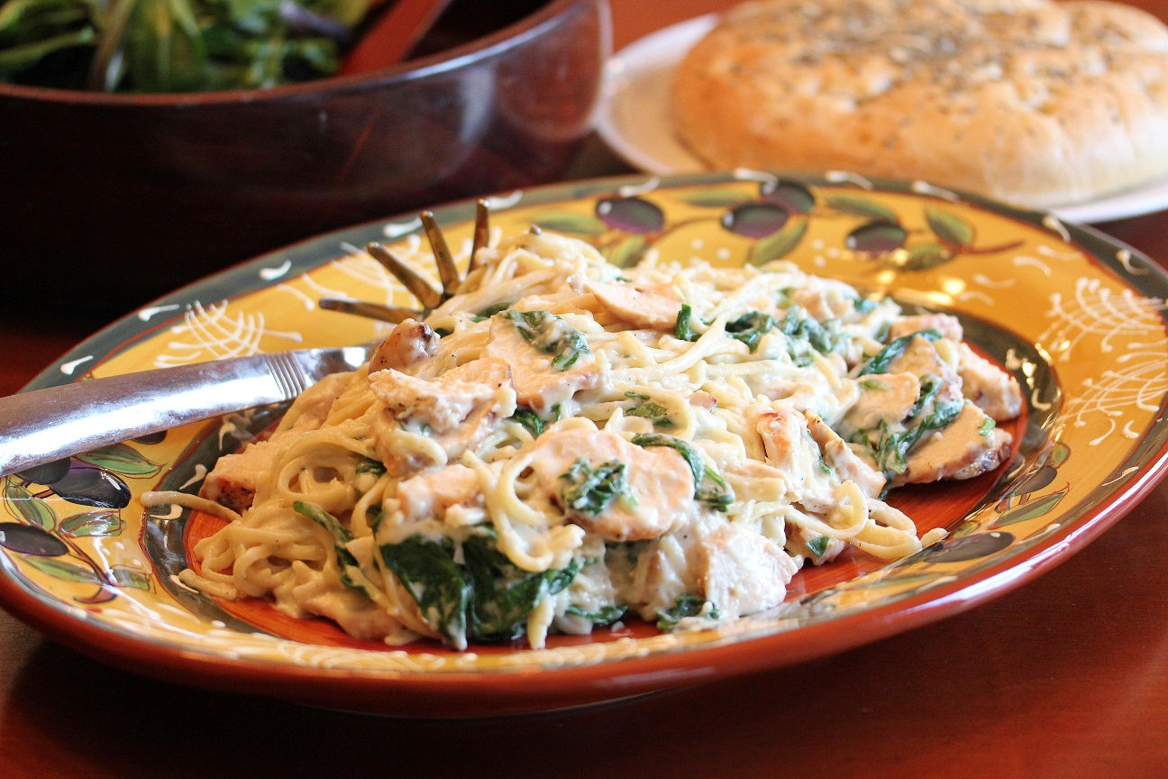... Recipes! – Part IV Budget Meals: Grilled Chicken Florentine Pasta