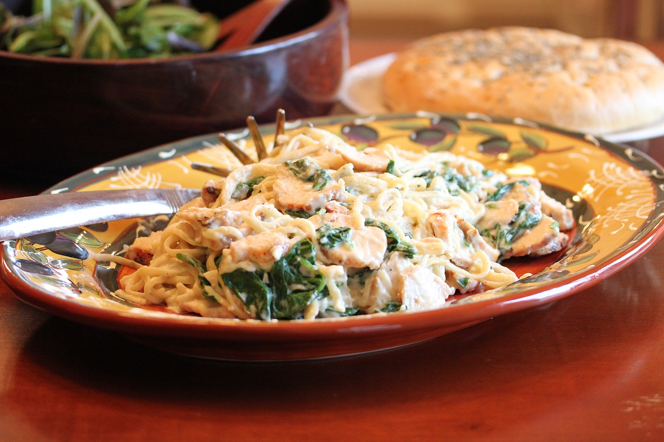 Part IV Budget Meals: Grilled Chicken Florentine Pasta - Lisa's ...