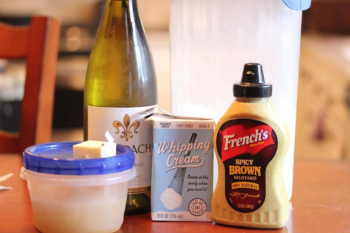 ... Recipes! – Chicken Cordon Bleu with White Wine Mustard Cream Sauce