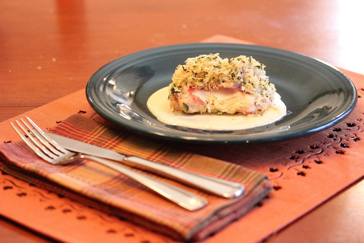 Chicken Cordon Bleu with White Wine Mustard Cream Sauce - Lisa's ...