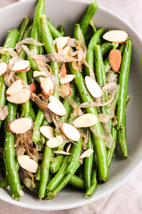 Fresh Green Beans with Shallot Butter Sauce