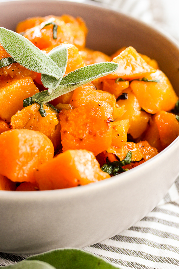 Brown Butter Maple Roasted Sweet Potatoes