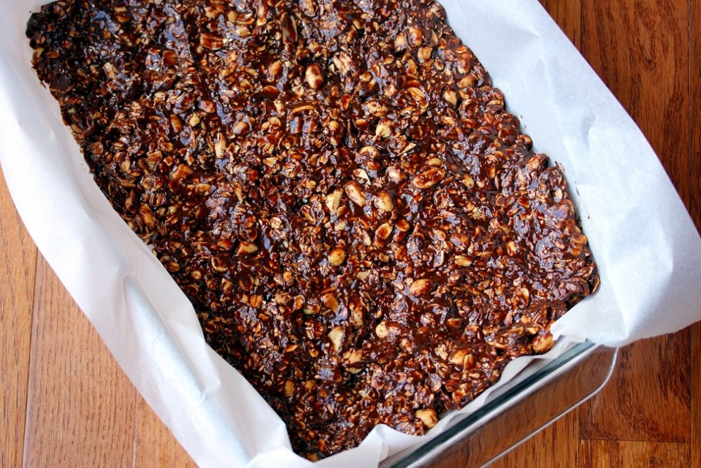 ... Dish for Great Recipes! – Chocolate Peanut Butter Granola Bars