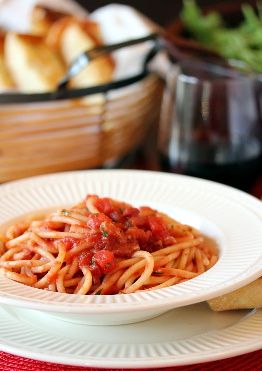 ... Dinnertime Dish for Great Recipes! – Bucatini all'Amatriciana