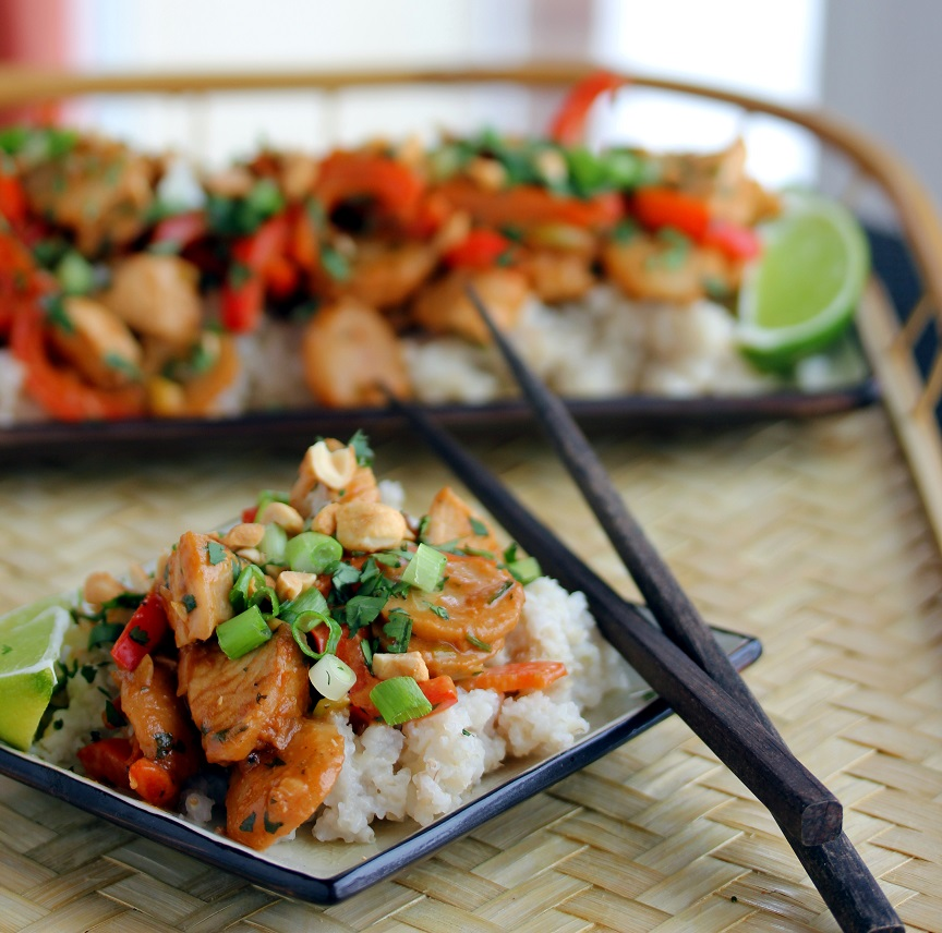 ... Dish for Great Recipes! – Chicken Stir Fry with Spicy Peanut Sauce