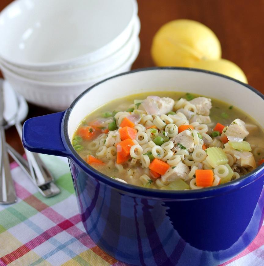 lemon dill chicken noodle soup  lisa's dinnertime dish