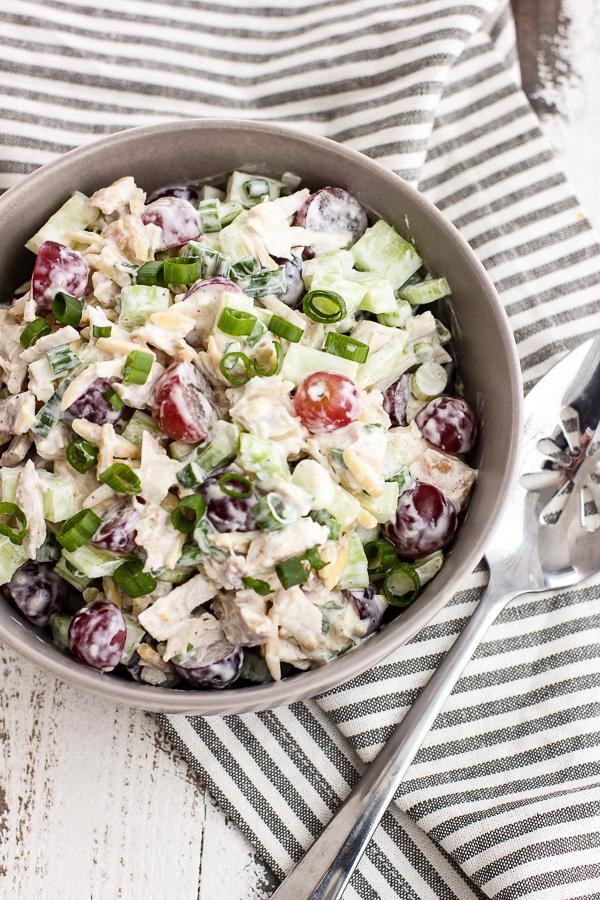 Sweet and Savory Chicken Salad with Creamy Yogurt Dressing