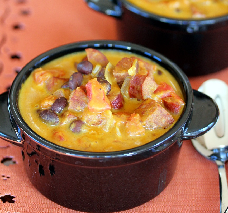 ... Dish for Great Recipes! – Pumpkin, Chorizo and Black Bean Soup