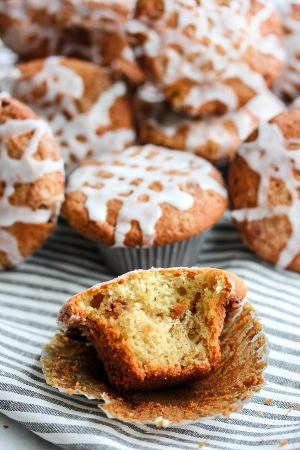 Cinnamon Roll Muffins {Dairy Free Option}