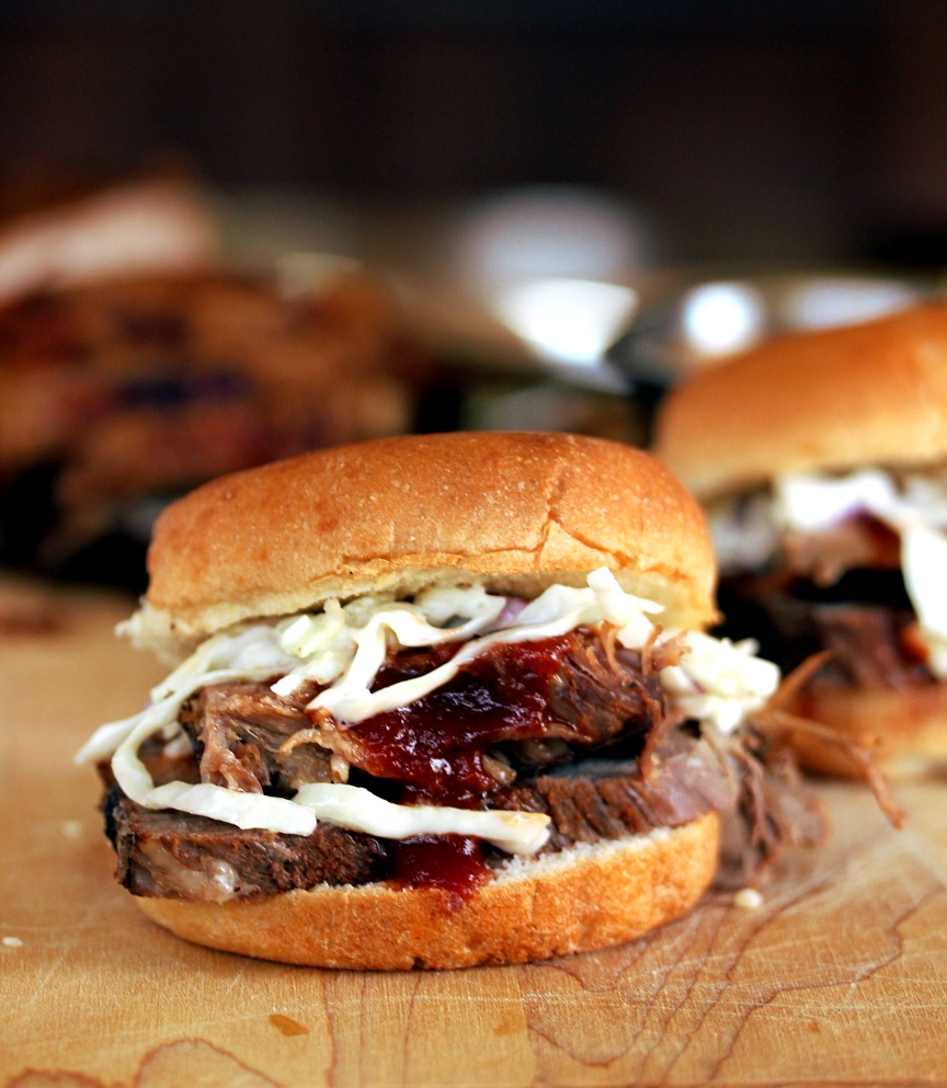 ... Dish for Great Recipes! – Slow Cooker Barbecue Brisket Sliders