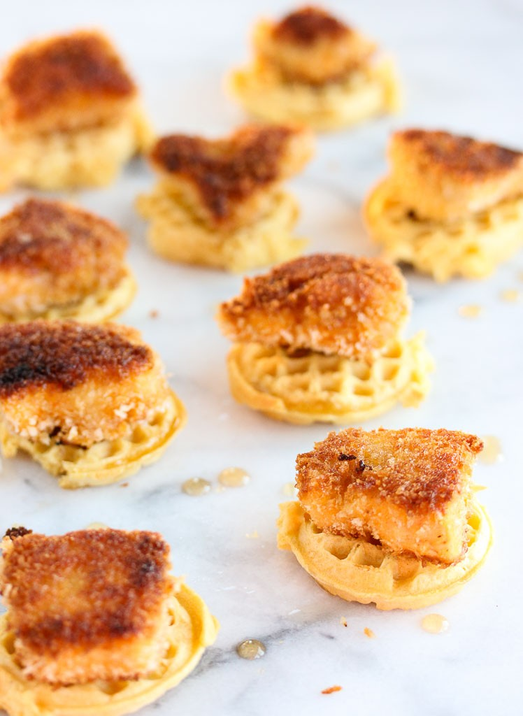 Chicken and Waffle Bites