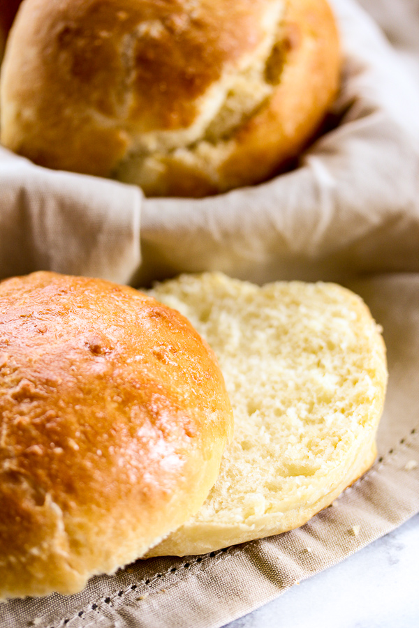 These Brioche hamburger buns are incredibly easy to make and they're deliciously light, tender and slightly sweet, perfect for topping with a juicy burger. | lisasdinnertimedish.com
