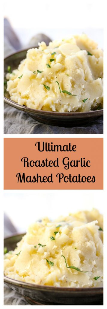 These perfectly fluffy Ultimate Roasted Garlic Mashed Potatoes are super easy to make and full of savory, delicious roasted garlic flavor. I promise you, everyone will love them.   lisasdinnertimedish.com
