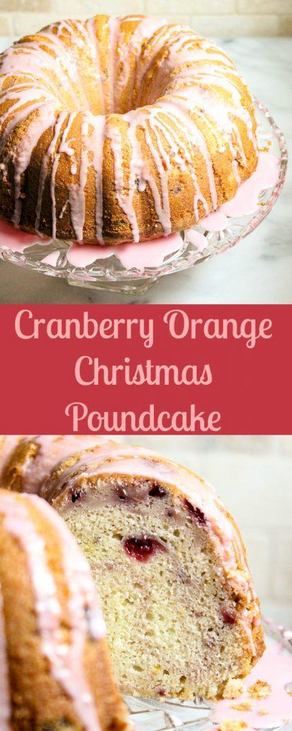Cranberry Orange Christmas Poundcake