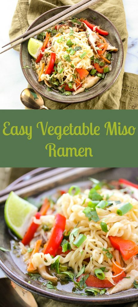 Easy vegetable miso ramen is a light and healthy soup that's chock full of nutrition and deep rich flavors, that will have your family begging for seconds.