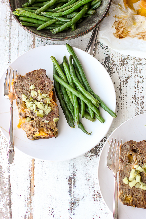 Low Carb Cheeseburger Meatloaf