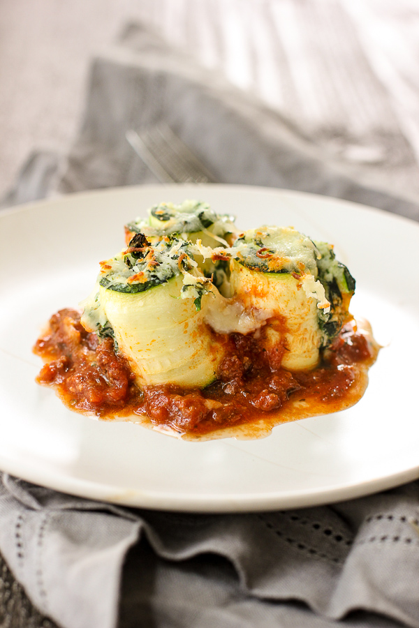 Zucchini Lasagna Roll-Ups