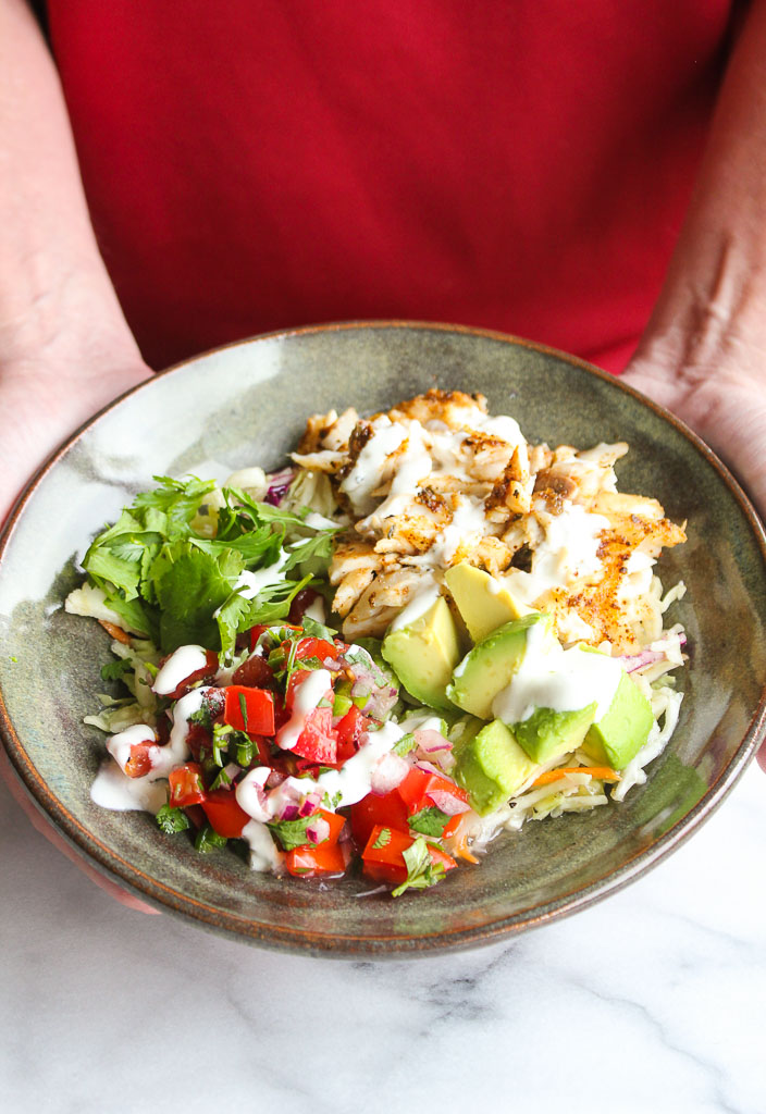 Grilled Fish Taco Bowls