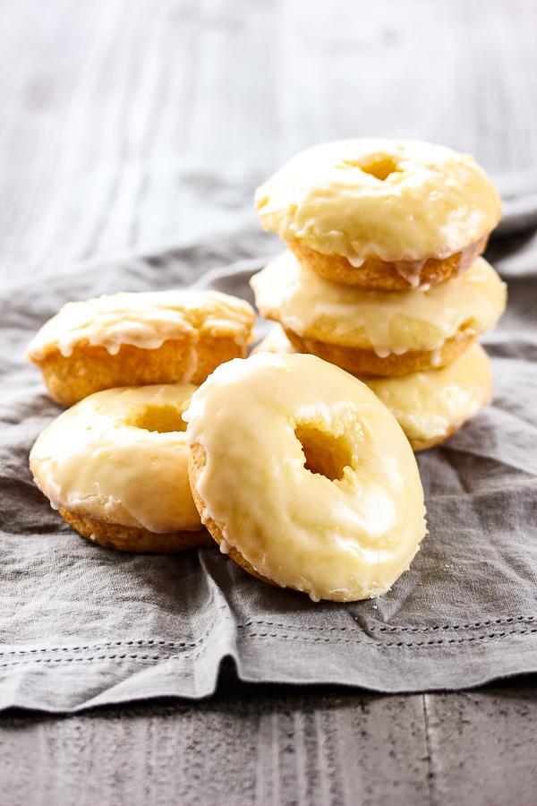 Baked Lemon Glazed Donuts