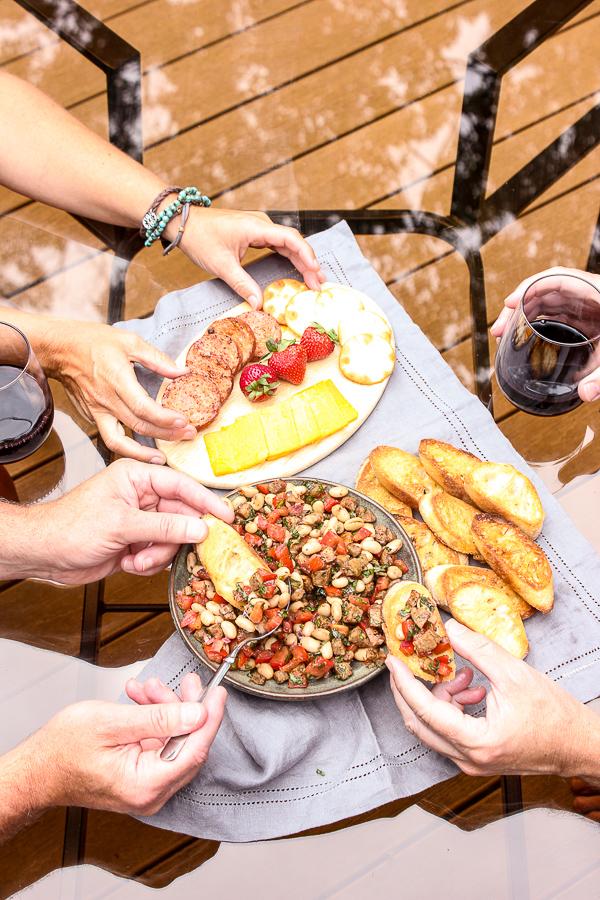 Italian Sausage and White Bean Bruschetta
