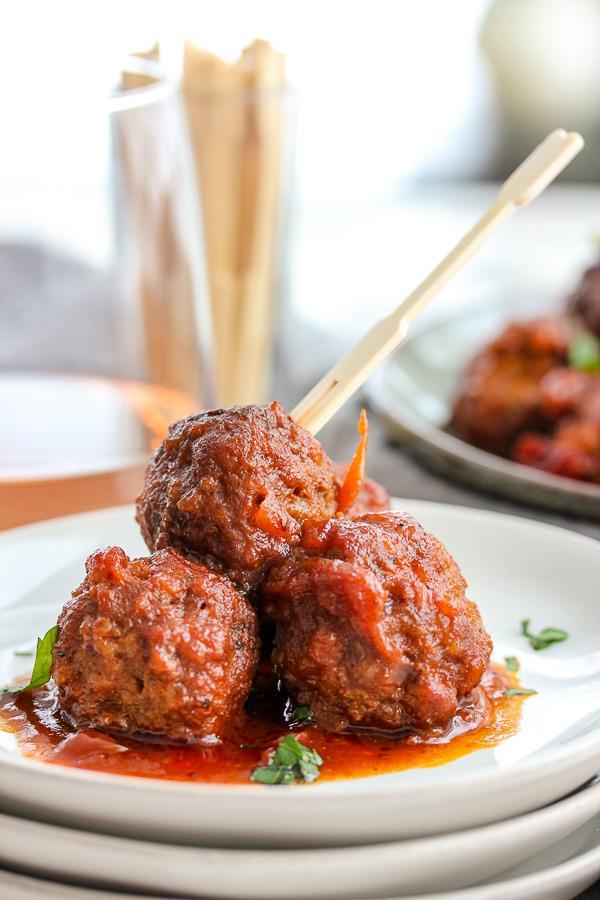 Instant Pot Cranberry Barbecue Meatballs