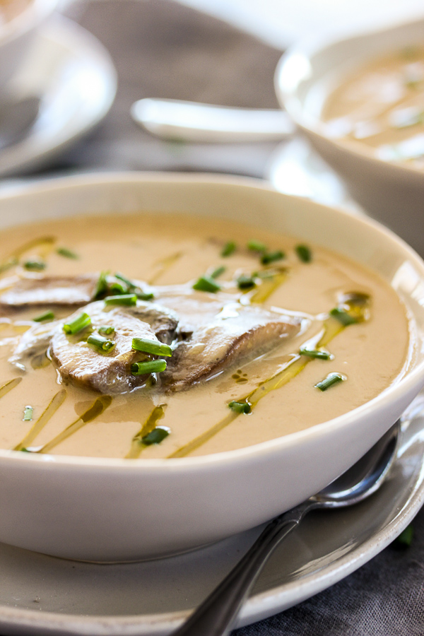 Vegan Cream Of Mushroom Soup Lisa S Dinnertime Dish