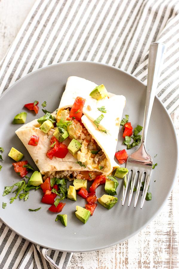 Make Ahead Low Carb Breakfast Burrito