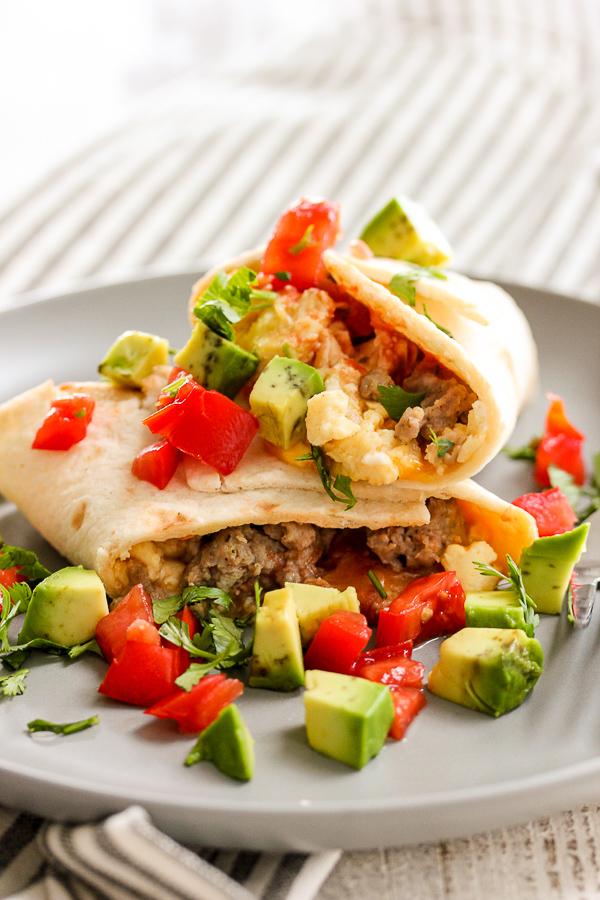 Make Ahead Low Carb Breakfast Burritos Lisa S Dinnertime Dish